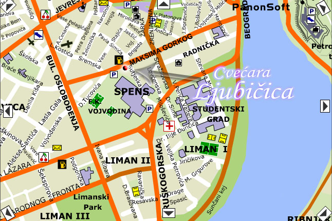 novi sad mapa grada Cvecara Ljubicica   Kontakt   Mapa [kiosk] novi sad mapa grada